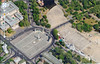 90-Millennium Monument (center, 1896) and Museum of Fine Arts (upper left). Google maps.