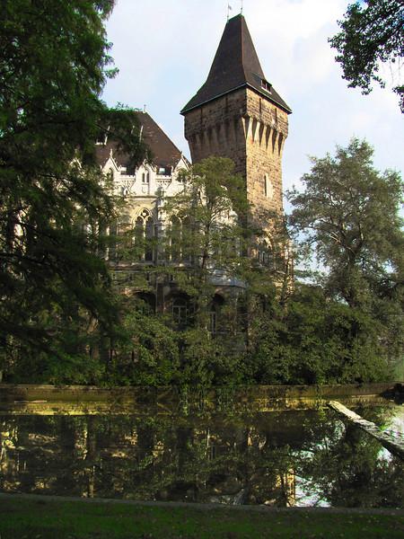 85-Vajdahunyad Castle and moat, in city park