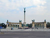 93-Heroes Square. The Millennium Monument (1896) celebrates the 1000th anniversary of Hungarian settlement in the Carpathian Basin. Each part of the monument highlights a part of Hungary's history.