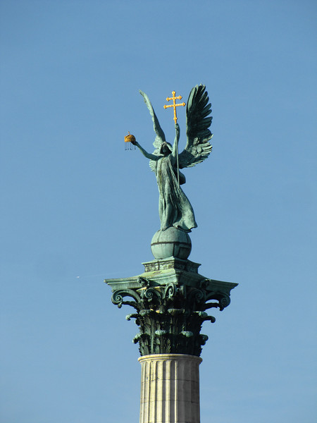 95-Archangel Gabriel is on the top of the column holding St. Stephen's crown.