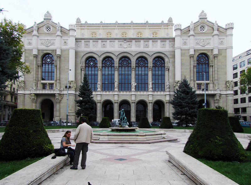 23-Pesti Vigadó, Budapest's second largest concert hall, 1859. Badly damaged during World War II. The post-war reconstruction took 36 years to complete.