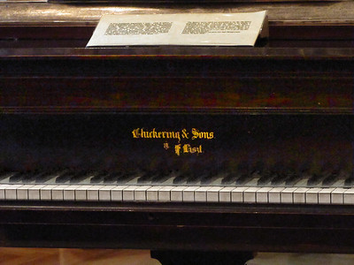 19-...but we didn't have our name on ours. (F. Liszt's Chickering baby grand piano.)