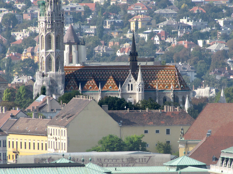 31-Mátyás Church (telephoto from the Citadel). Following the capture of Buda by the Turks in 1541, the church became the city's main mosque.