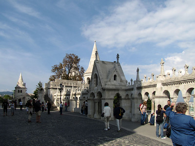 37-Fishermen's Bastion. During the Middle-Ages the fish-market was located next to the church, and the Fishermen's Guild was responsible for defending the adjacent area. At the time of its construction, the Fishermen's Bastion no longer had a defensive function.