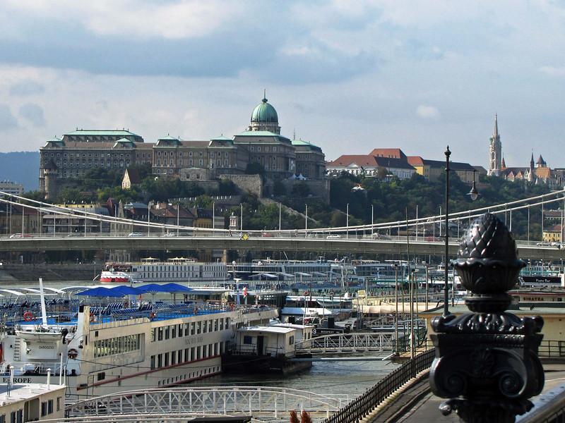 01-Looking downriver: Hungarian National Gallery and Mátyás Church (far right).