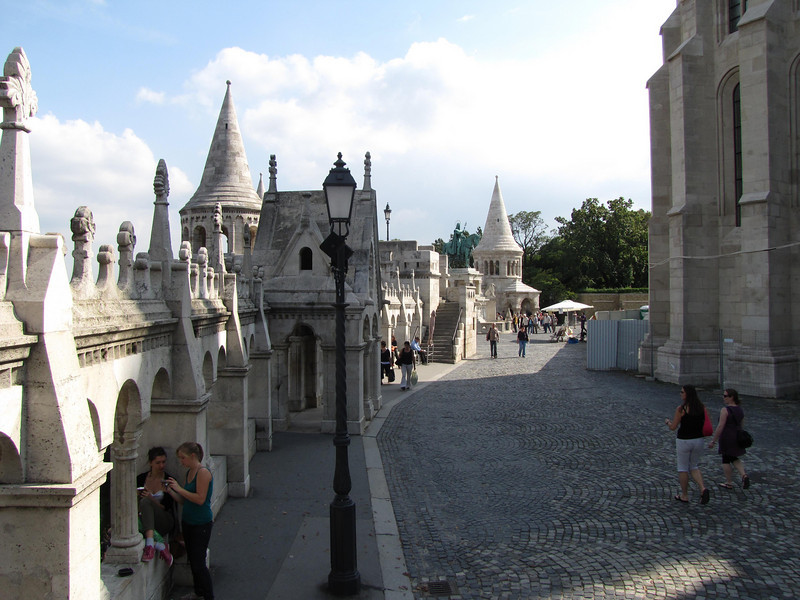 34-Fishermen's Bastion is made up of seven round towers symbolising the seven Magyar tribes that gave rise to the nation a thousand years earlier.