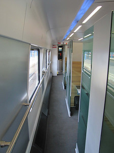 Railjet: The Premium Class 4-person compartments are in the center of the car.