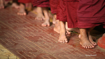 everyone goes barefooted in the temple or monastery, including us tender footed tourist