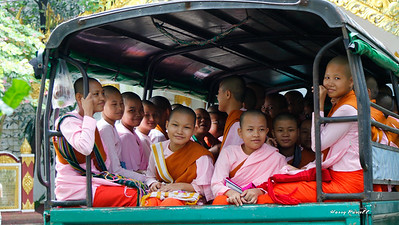 the local school bus, all nuns in training