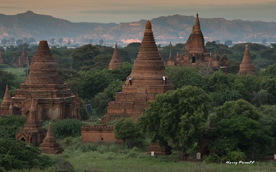 the countryside near Began with temples, pagodas & stupas dating back to the 1200's