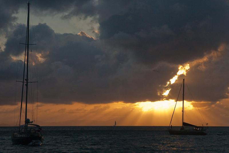 Sunset, Cane Bay.