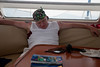 Our cruise director, Mike, sleeping off a little nap.