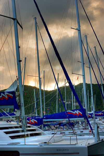 Our first evening before getting on our boat, Eh Voila, was overcast and stormy.
