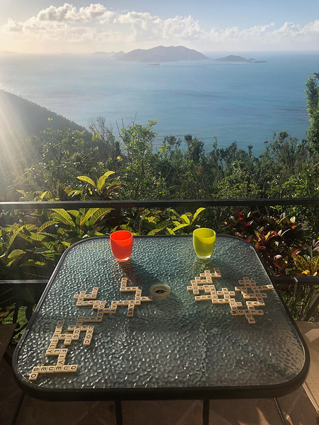 Bananagrams with a view!
