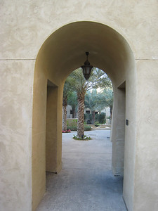 Walkway inside the hotel