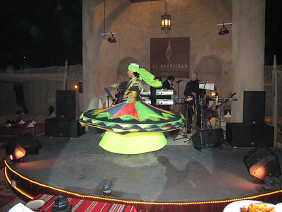 The tannoura dancer.  There was a bellydancer too but she was all 'tits and teeth'.  Great music though.