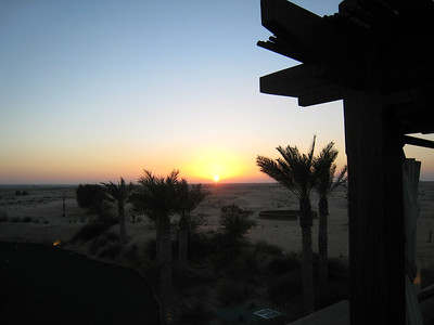 Sunset over the desert
