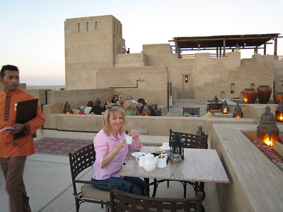 Roof top as the sun goes down.  The wind was picking up and it was getting darn cold!