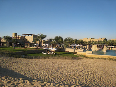 From the dunes looking back at the pool and the hotel.