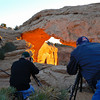 Photographing a sunrise in Canyonlands National Park, Utah