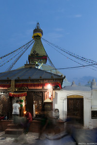 Night outside of Boudhanath