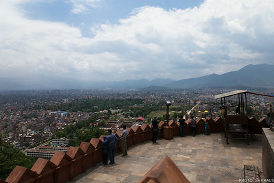 Swayambhunath Montains and City