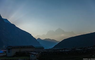 Sunrise Behind the Mountain.