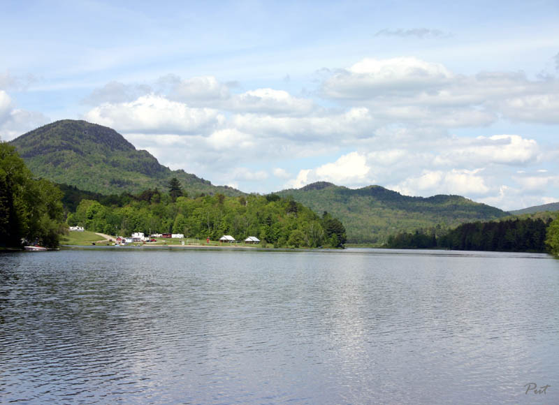 Mount Norris and the Three Sisters -- Lake Eden -- Vermont