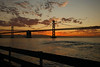Beautiful sunrise behind the Bay Bridge