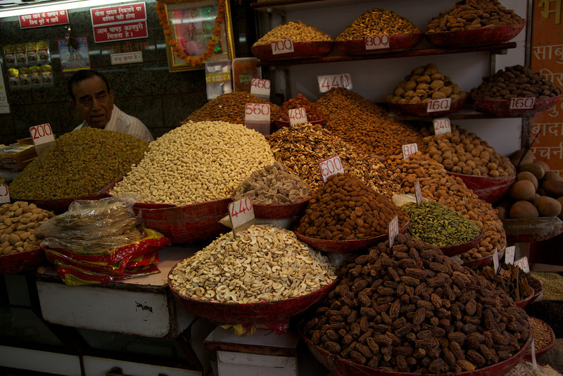 You could find all kinds of nuts and dried fruit