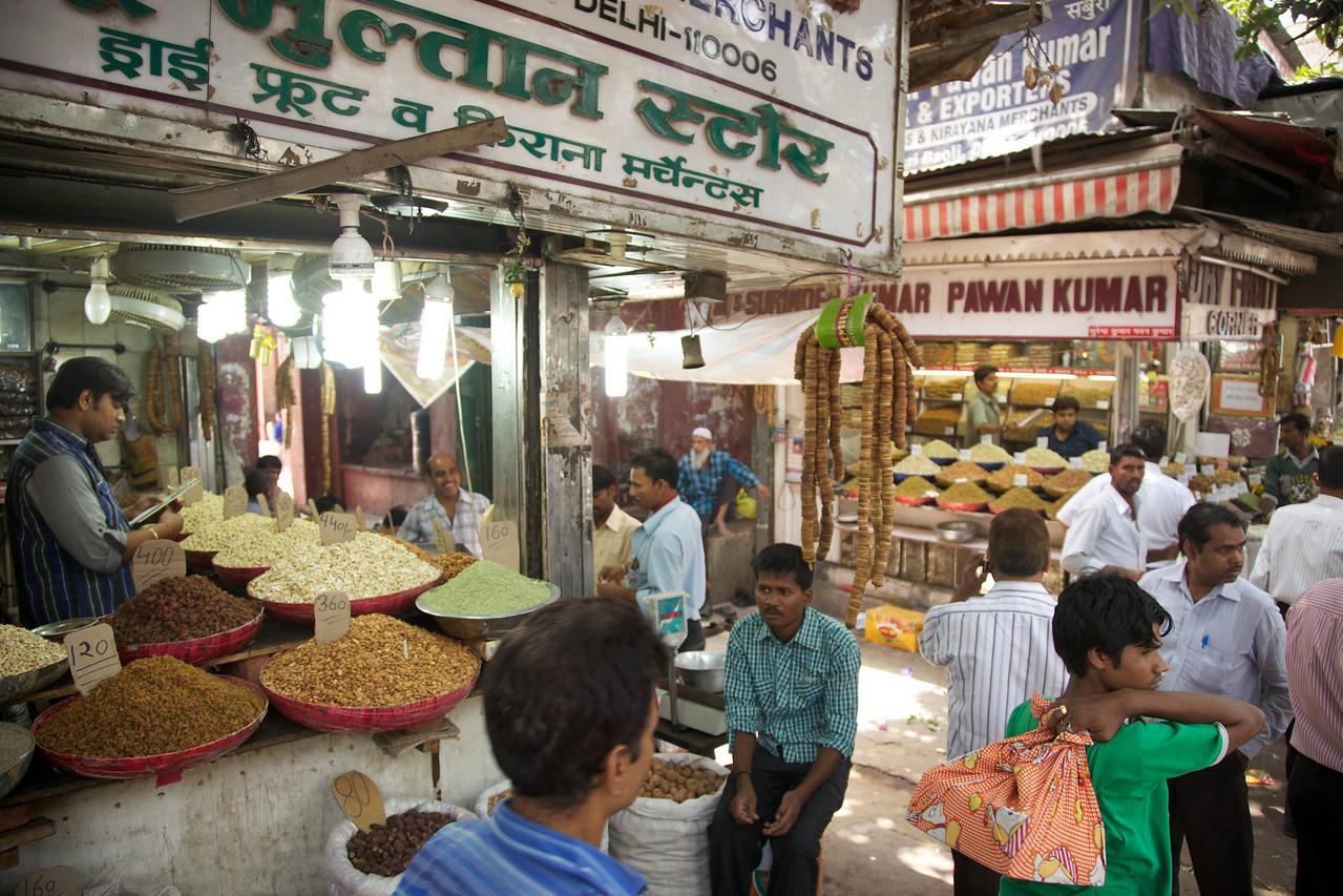 Spice market in Old Delhi