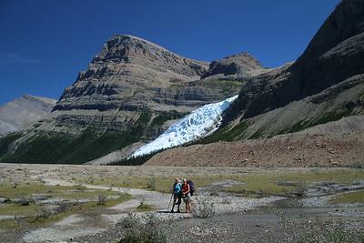 Sheri & Mitzi & Berg Glacier.