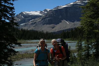 Sheri & Mitzi on the way to Berg lake.