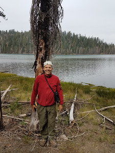 We hiked without backpacks to Lower Twin Lake--not far from out camp.