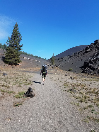 Approaching Cinder Cone. I knew already that with my fresh cold, I would not climb it. Charles still held out hope for me.