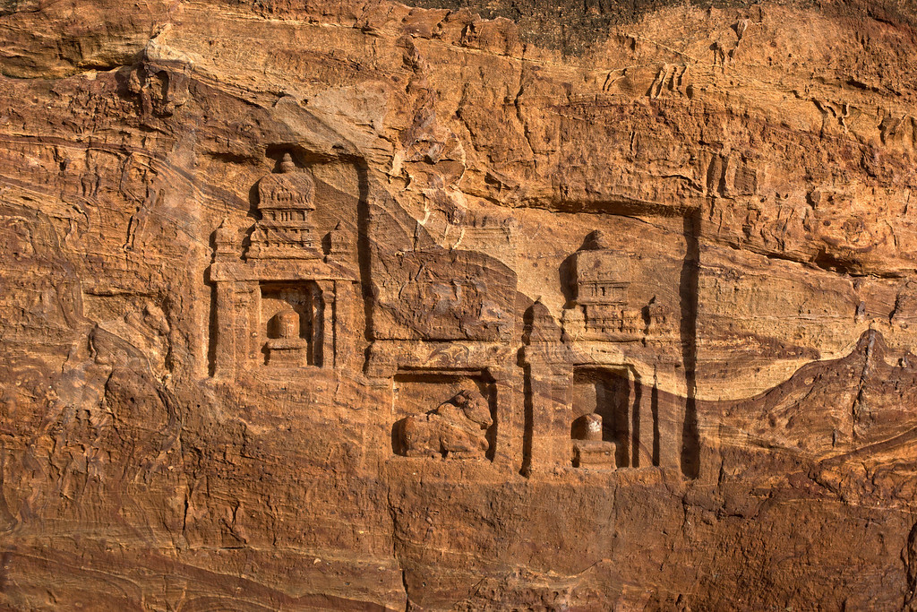 Practice makes perfect!   Rock-cut carvings are found throughout the region.