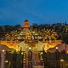 Baha'i Gardens glow at night