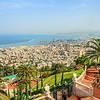 Downtown Haifa and Port from the Baha'i Gardens