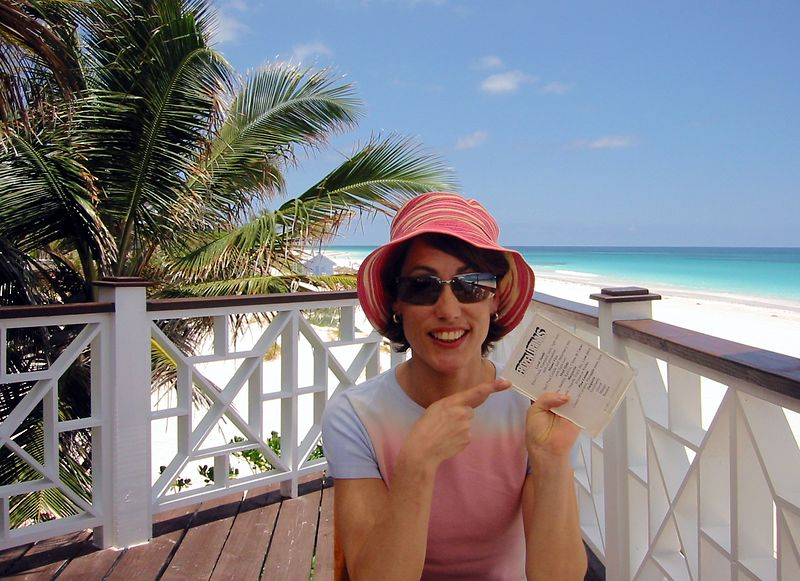 "Vacation begins with the frozen drinks menu!  After checking in to our hotel, <A HREF=""http://www.coralsands.com/"">The Coral Sands</A>, we head straight down to our hotel's bar right on Pink Sands Beach.  We're on <A HREF=""http://www.myharbourisland.com/""> Harbour Island</A>!"