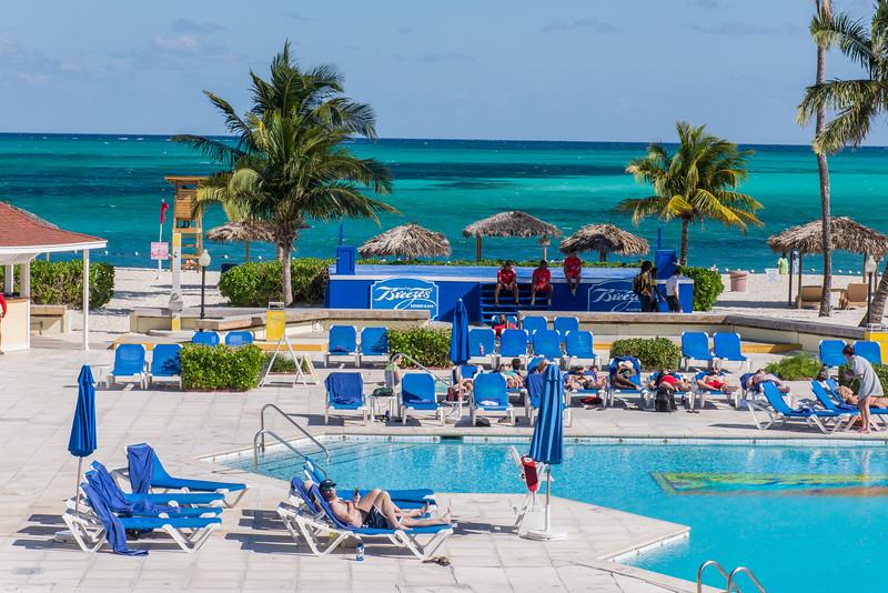 Breezes pool at Cable Beach, Nassau, Bahamas - February 2017