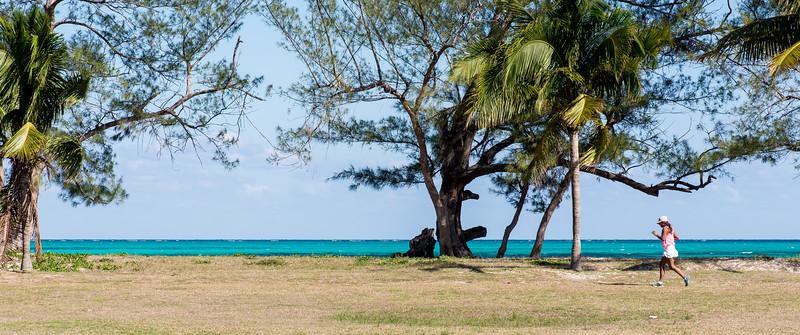 View along Cable Beach, Nassau, Bahamas - February 2017