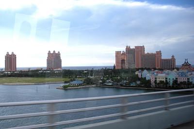 5:20PM Crossing over bridge from Nassau into Paradise Island