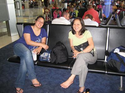 12:30PM Ellen met us at DFW. Waiting for flight to Nassau.