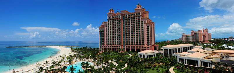 Panoramic view from our balcony in room 9922