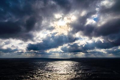 Sun at sea