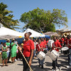 The Exuma youth marching band livened up the festival