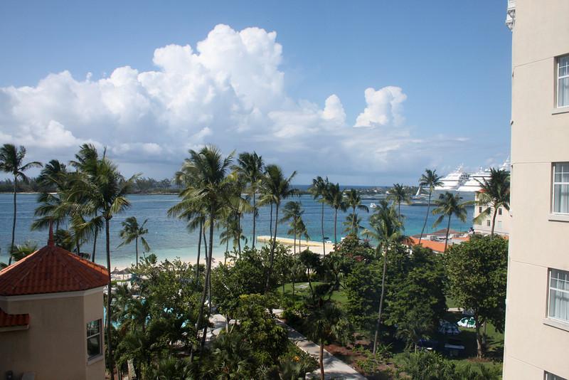 View from my room, Hilton Nassua Bahamas.