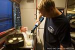 Mike Black prepares creme brulee