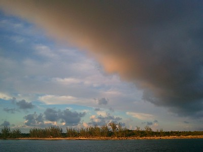 © Joseph Dougherty. All rights reserved.  Storm cloud near sunset, over southern Eleuthera.