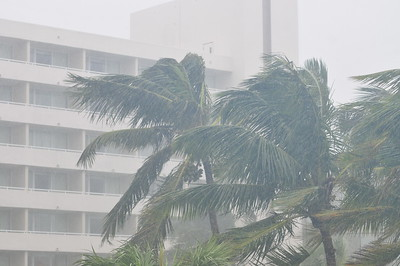 © Joseph Dougherty. All rights reserved.   Winds and heavy rains from Hurricane Sandy hit Cable Beach on New Providence, Bahamas.